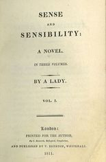 Cover of Sense and Sensibility by a Lady